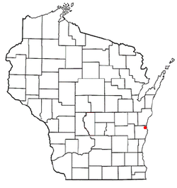 Location of Mosel, Wisconsin
