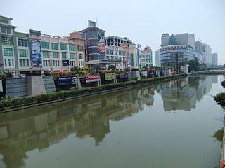 Ciliwung river passes through Jakarta