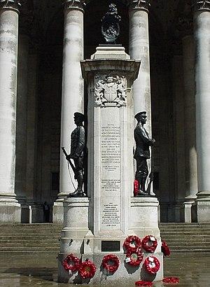 London Troops War Memorial - The memorial in 2010