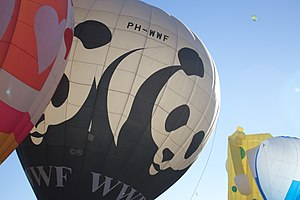 World Wide Fund for Nature - A WWF hot air balloon in Mexico (2013).