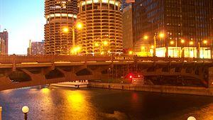 Wabash Avenue Bridge - Wabash Avenue Bridge at night