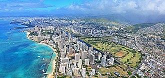 Waikiki - Aerial view of Waikiki