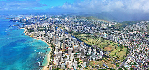 Waikiki, Honolulu Panorama (16191692896)