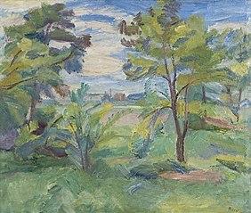 Landschaft mit Akazien
