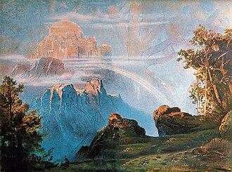 Valhalla - Image: Walhalla (1896) by Max Brückner