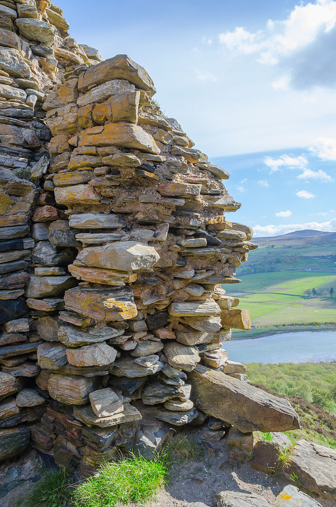ruined wall at Varrich Castle