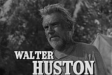 Walter Huston en 1935 en a cinta The Treasure of the Sierra Madre.