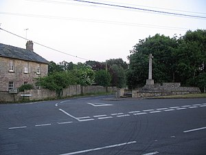 Bourton, Dorset - Image: War Memorial at Bourton geograph.org.uk 187316