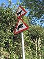 Warning road signs near Rhyd-y-Pandy - geograph.org.uk - 179241.jpg