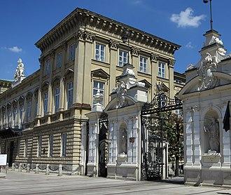 University of Warsaw - Main gate on Krakowskie Przedmieście