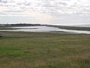 Washdyke Lagoon - Figure 1:Photograph of Washdyke Lagoon taken from its Southern end.