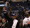 Washington celebrates 2011 Pac-10 championship.jpg