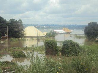 Lagdo Reservoir - Water Submerged settlement