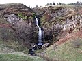 Waterfall on the Kilsyth Hills - geograph.org.uk - 1599575.jpg