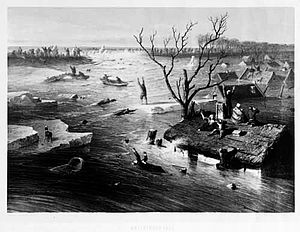 Flood 1855 Gelderland, location unkown