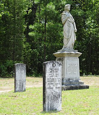 Waxhaw Presbyterian Church Cemetery - Statue erected to the memory of Elisabeth Hutchinson Jackson mother of Andrew Jackson, seventh president of the united States