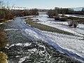 Wenatchee River at Confluence of Columbia Frozen in Winter.jpg