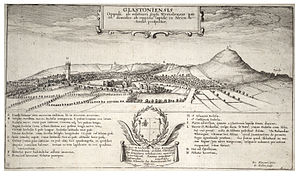 Glastonbury - 17th-century engraving of Glastonbury