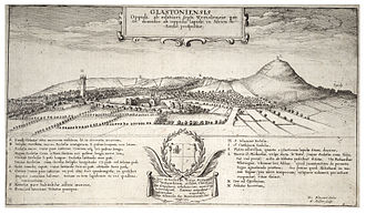 Glastonbury - 17th-century engraving of Glastonbury