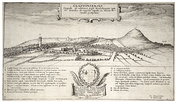 17th-century engraving of Glastonbury