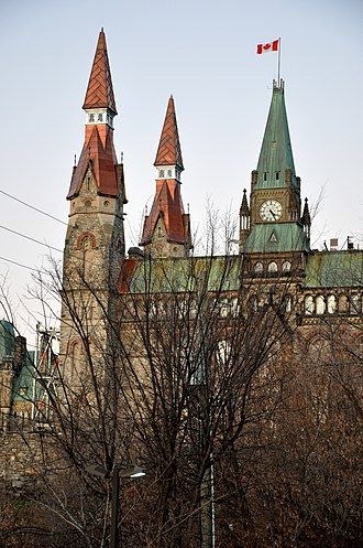 Parliament Hill Rehabilitation - Image: West Block North Towers