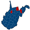 West Virginia Senate Election Results by County, 2012.png