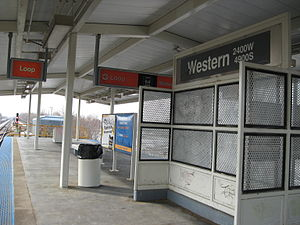 Western station (CTA Orange Line) - Image: Western CTA Orange Line Station