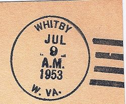 Postmark from Whitby, West Virginia