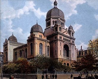 Łódź - The Great Synagogue was the main prayer house for the local Jewish community. It was destroyed during World War II