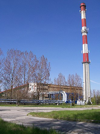 District heating - Coal heating plant in Wieluń (Poland)