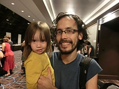 Wikimania 2017 by Deryck day 0 - 11 David and Erin.jpg