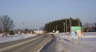 Wild Rose, Wisconsin - Image: Wild Rose sign