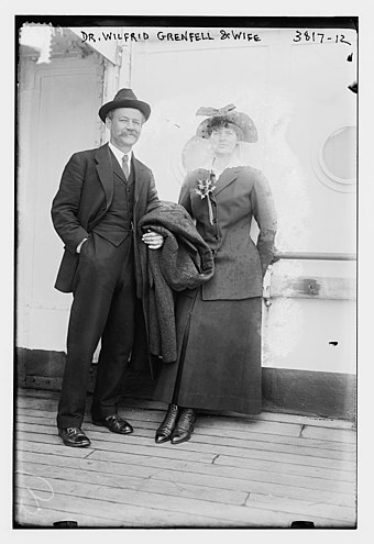 Wilfred Grenfell and his wife in 1916