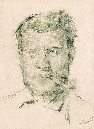 Johann Sperl - Johann Sperl, drawn by Wilhelm Leibl