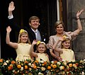 Willem-Alexander, Maxima and their daughters 2013.jpg