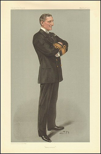 "William May (Royal Navy officer) - ""Navy Control"". Caricature by Spy published in Vanity Fair in 1903"