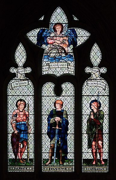 Датотека:William Morris window Malmesbury Abbey.jpg