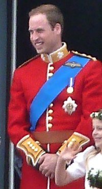 Prince William, Duke of Cambridge wearing Garter Riband and Star William in uniform.jpg