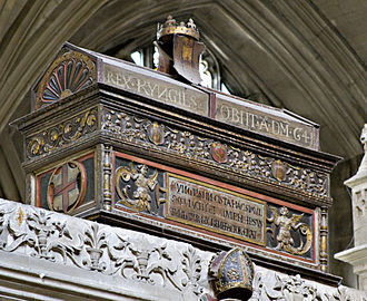 Cynegils - Mortuary chest in Winchester Cathedral that purports to contain Cynegils's bones