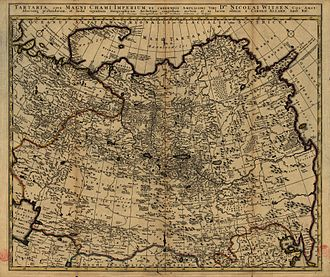 Tatars - Map of Tartaria (1705)