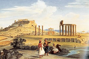 Johann Michael Wittmer - Temple of Olympian Zeus, Athens (1833)