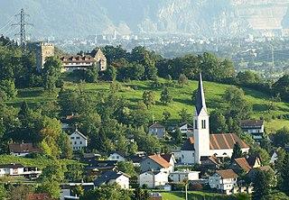 Wolfurt Place in Vorarlberg, Austria