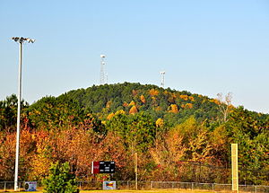 Tishomingo County, Mississippi - Woodall Mountain, elevation 807 feet, is the highest point in the state of Mississippi.