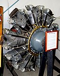 Wright 1820 Cyclone, view 1 - Oregon Air and Space Museum - Eugene, Oregon - DSC09690.jpg