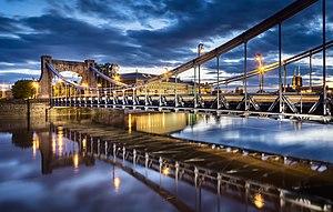 Grunwald Bridge - The bridge seen from the Oder River