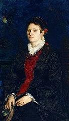 Portret kobiety z wachlarzem (Portret Józefy Krotkiewskiej, ciotki artysty)