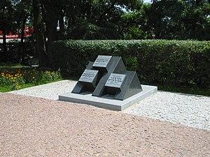 Wyszków - Monument to Mordechaj Anielewicz in Wyszków