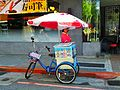 Yakurt Tricycle with Seller Woman in Taipei 20121003.jpg