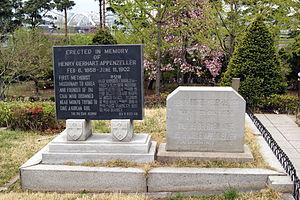 Henry Appenzeller - Cenotaph at Yanghwajin Foreigners' Cemetery