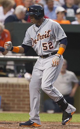 Yoenis Céspedes - Céspedes with the Detroit Tigers in 2015
